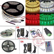 5 M 60LED/m luz de tira SMD 3528 5050 5630 RGB/Blanco Flexible + Control Remoto + Fuente De Alimentación