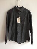 NWT Free Planet Long Sleeve Button Front Men's Black Casual Shirt Size S, M, L