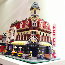 Custom set Hotel and Cafe fit to lego 10185 Town Hall Series 2133 PCS