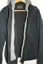 NWT Levi's Men's Trucker Jacket w/ Quilted Lining & Hood Small S Black