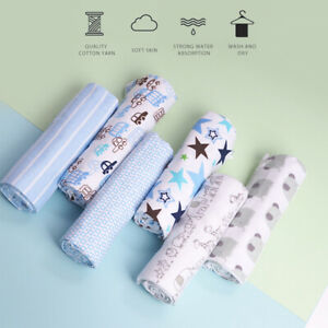4PC 76*76CM Breathable 100% Cotton Baby Muslin Swaddle Cloth Blanket Wrap Square