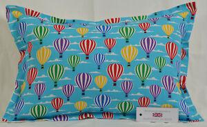 "Hot Air Balloons Oxford Style Cushion Inc Pad 14"" x 20"" (36cm x 51cm) Turquoise"