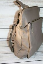 elk Brand Taupe Leather Large Backpack