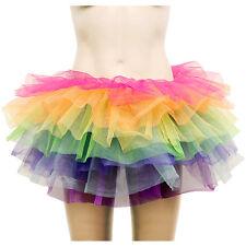 Vivid Rainbow 7 Layered Tiered Tulle Burlesque Rara Ballet Tutu Skirt Pettiskirt