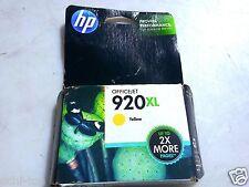 HP 920XL Yellow Ink Cartridge CD974AN New 6000 6500 6500A 7000 7500 7500A