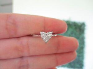 1.10 Carat Face Diamond Illusion Engagement Ring 14k White Gold JS91R sep