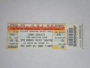 Lenny Kravitz Ticket Stub 2004 Baptism Tour-DTE Energy Theatre-Clarkston,MI