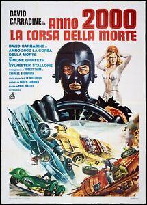 ANNO 2000 LA CORSA DELLA MORTE MANIFESTO SCI-Fi 1975 DEATH RACE MOVIE POSTER 4F