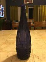 "Vintage Italian 14.5"" Rossini Empoli Amethyst Glass Genie Bottle No Stopper"