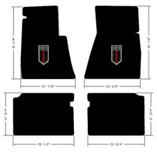 NEW! Black Floor Mats 1962-1967 Chevy II 2  Embroidered Shield Logo 4 pc set