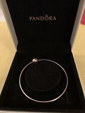 Genuine Pandora Essence Gold Bangle 14ct Gold G585 556000 New 18cm Size M (New)