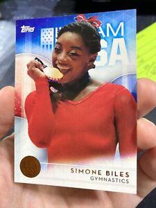 2016 Topps USA Olympics Team Simone Biles RC Rookie BRONZE SP *Pack Fresh* #38