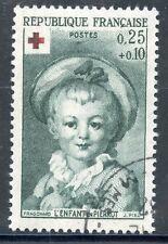 STAMP / TIMBRE FRANCE OBLITERE N° 1367 CROIX ROUGE / FRAGONARD