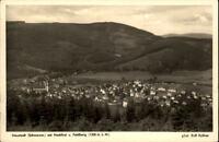 Neustadt Schwarzwald alte Ansichtskarte 1951 Panorama mit Hochforst und Feldberg