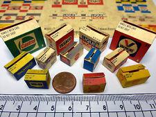 12 Diverse Color Kartons für1:24 -1:18-1:20 Diorama,Garage Werkstatt