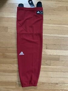 NWT Adidas Knit Maroon Ice Hockey Sock Size Large Stretch Pullover $35