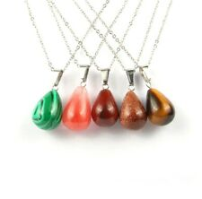 Natural Stone Necklace Jewlery for Women Round Natural Stone Agated