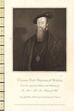 1818 GEORGIAN DATED PRINT ~ THOMAS LORD SEYMOUR OF SUDELEY