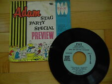 Adam Stag Party Special Preview 1960 45 RPM Fax Records Adult Comedy Entert'ment