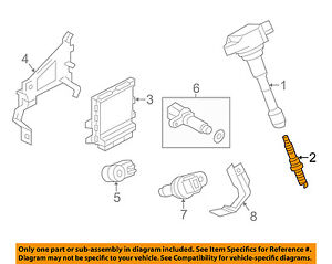 Infiniti OEM 16-18 Q50 3.0L-V6 Ignition-Spark Plug 224015CA1D
