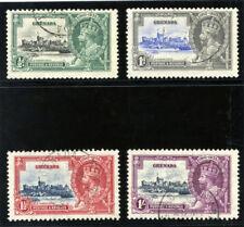 Grenada 1935 KGV ARGENTO GIUBILEO SERIE COMPLETA VF utilizzato. SG 145-148. SC 124-127.