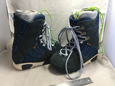 BURTON Snowboard Snow Board Boarding Boots Size 7 Women's Ruler Blue and Grey