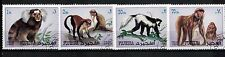 1971 - FUJEIRA - SERIE TIMBRES OBL. - SINGE-PRIMATE - ANIMAUX SAUVAGES