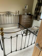king size gun metal bed frame used but In excellent condition