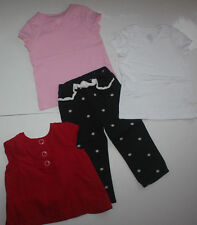 Lot Sz 3-4T Toddler Girl Mix n' Match Outfits Shirts Pants Gymboree Beach Summer