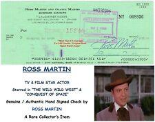 ROSS MARTIN   POLISH/ AMERICAN FILM / TV ACTOR  HAND SIGNED CHECK 1978 RARE ITEM