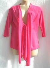 Size 14 per Una Hot Pink Unstructured Jacket - 3/4 Sleeves Tie Front