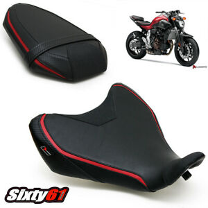 FZ07 Seat Cover 2014 2015 2016 2017 Yamaha FZ-07 Black Red Front Rear Luimoto