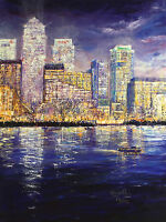"KAREN WALLIS ""City by Night"" SIGNED OUT-OF-PRINT LE! SIZE:55cm x 41cm NEW RARE"
