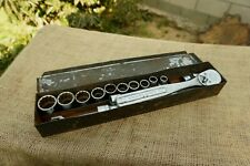 "Rare CRAFTSMAN Circle U Socket Set -15 Pc 1/2""Drive,12 Point W/Case,PLOMB PLVMB"