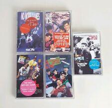 5 x New Kids On The Block Cassette Tape Albums Vintage 1980s 1990s Pop