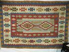 """Antique Middle Eastern Tribal Woven Rug with Fringe 69.5"""" x 47"""""""