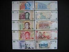 Argentina 2 + 5 + 10 + 20 + 50 pesos 2002 - (p352-p356) unc