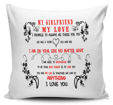 My Girlfriend My Love I Promise To Always Be There For You Gift Cushion Cover