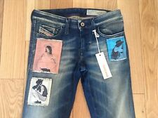 BNWT 100% auth Diesel LIMITED EDITION Skinzee Biker Style Jeans. 25 RRP £250