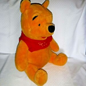 "Large JUMBO WINNIE THE POOH BEAR 19"" Sitting Stuffed Plush Mattel"