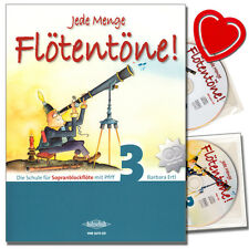 Jede Menge Flötentöne 3 mit 2CDs - Blockflöteschule - VHR3619CD - 9783940069894