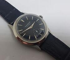 Seltene Vintage Jaeger-LeCoultre Sub Second Schwarz Zifferblatt Stoßstange automatische Mann Armbanduhr