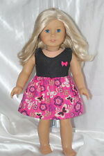 Doll Dress fits 18inch American Girl Clothes Butterfly Floral Print