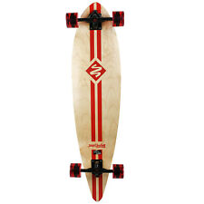 """Street Surfing Longboard Complete Retro Stripe Red Pintail 9.6"""" x 40"""""""