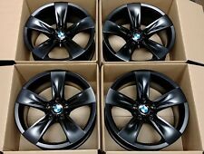"4 Factory BMW E60 550i 18"" OEM Wheels 525i 528i 530i 535i 545i Black Rims"