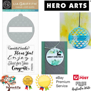 Christmas Gift Tag Die & Stamps - Thank You, Just for You - Hero Arts