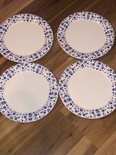 """Waechtersbach 10"""" Dinner Plate  White w/Blue Flowers .Lot of 4"""