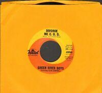 Green River Boys Glen Campbell - Divorce Me C.O.D. Vinyl 45 rpm Record