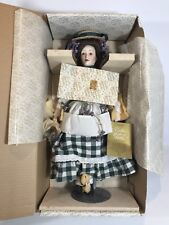 Franklin Mint Heirloom Dolls The Lavender Girl Bisque Porcelain original box