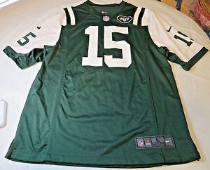 Mens Nike Jersey NFL NY Jets L On Field #15 Brandon Marshall green wht Football